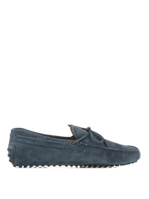 Tod'S: Loafers & Slippers - New Laccetto suede driving shoes