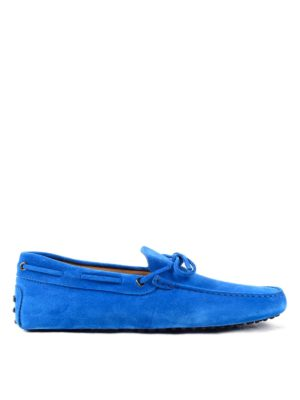 Tod'S: Loafers & Slippers - New Laccetto suede loafers