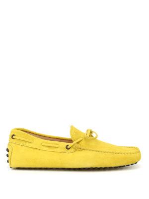 TOD'S: Mocassini e slippers - Mocassini New Laccetto giallo scuro