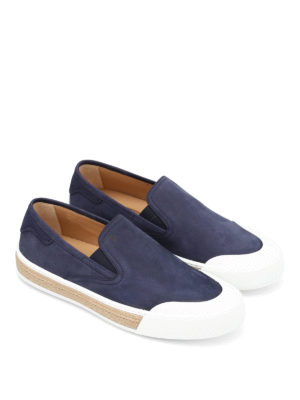 Tod'S: Loafers & Slippers online - 26A nubuck slip-ons