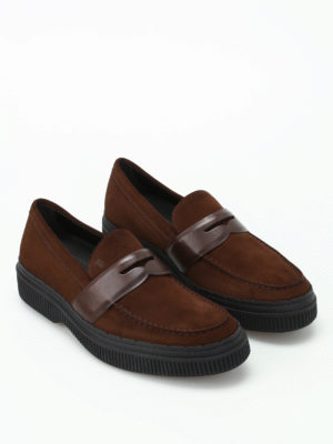 Tod'S: Loafers & Slippers online - 39A suede and leather loafers