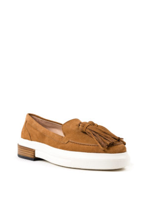 Tod'S: Loafers & Slippers online - 92B maxi rubber sole suede loafers