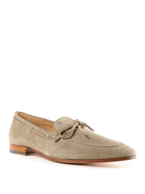 Tod'S: Loafers & Slippers online - Beige suede classic loafers