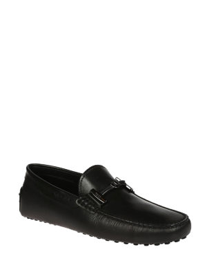 Tod'S: Loafers & Slippers online - Black leather driver shoes
