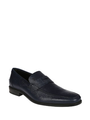Tod'S: Loafers & Slippers online - Blue texturized leather loafer
