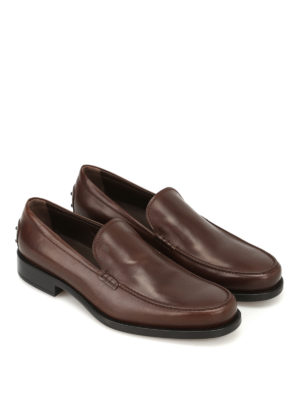 Tod'S: Loafers & Slippers online - Boston dark brown leather loafers