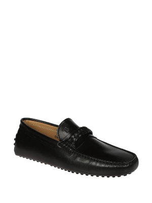 Tod'S: Loafers & Slippers online - Braid detail leather driver shoes