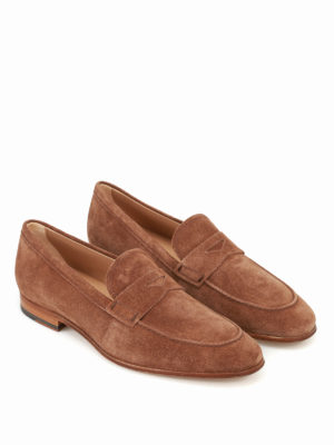 Tod'S: Loafers & Slippers online - Brown suede classic loafers
