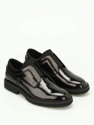 Tod'S: Loafers & Slippers online - Brushed leather and scuba slip-ons