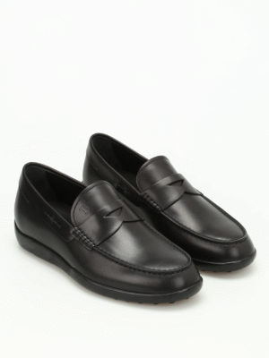 Tod'S: Loafers & Slippers online - Brushed leather loafers
