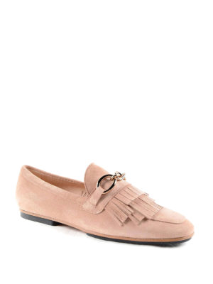 Tod'S: Loafers & Slippers online - Chain detail suede slippers