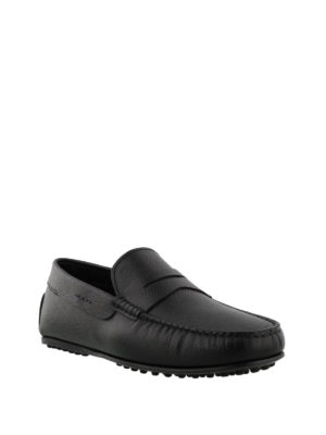Tod'S: Loafers & Slippers online - City black leather loafers