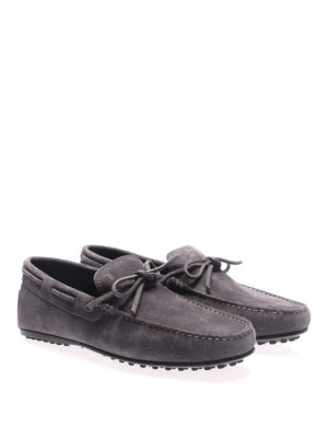 Tod'S: Loafers & Slippers online - City Gommino ash grey suede loafers