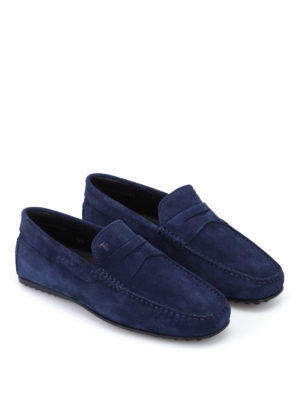 Tod'S: Loafers & Slippers online - City Gommino dark blue loafers