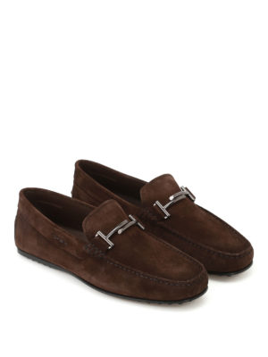 Tod'S: Loafers & Slippers online - City Gommino dark brown loafers