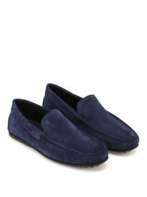 Tod'S: Loafers & Slippers online - City Gommino galassia suede loafers