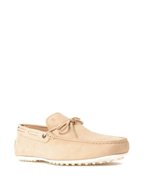 Tod'S: Loafers & Slippers online - City Gommino light suede loafers