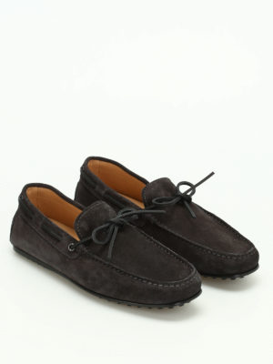 Tod'S: Loafers & Slippers online - City Gommino suede loafers