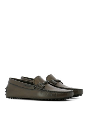 Tod'S: Loafers & Slippers online - Clamp detail leather loafers