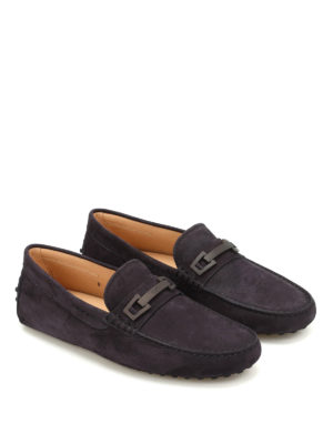 Tod'S: Loafers & Slippers online - Clamp detail nubuck loafers