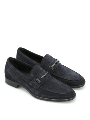 Tod'S: Loafers & Slippers online - Clamp detail suede loafers