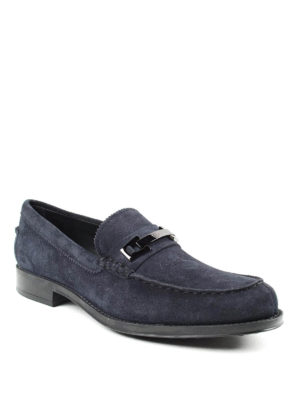 Tod'S: Loafers & Slippers online - Clamp detailed suede loafers