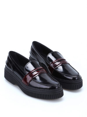 Tod'S: Loafers & Slippers online - Contrasting penny bar loafers