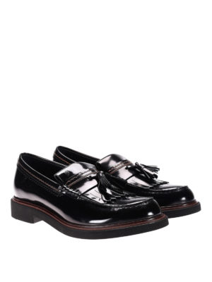 Tod'S: Loafers & Slippers online - Contrasting stitching loafers