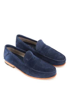Tod'S: Loafers & Slippers online - Dark blue suede loafers