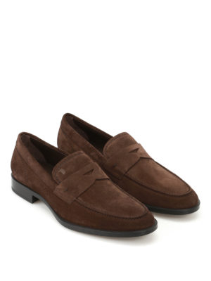 Tod'S: Loafers & Slippers online - Dark brown suede loafers