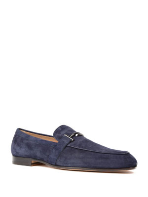 Tod'S: Loafers & Slippers online - Doppia T formal suede loafers