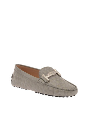 Tod'S: Loafers & Slippers online - Double T croco print patent loafers