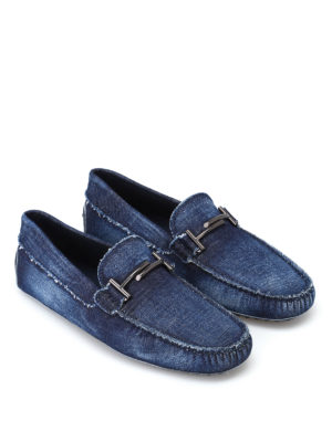 Tod'S: Loafers & Slippers online - Double T denim loafers