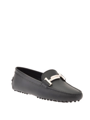 Tod'S: Loafers & Slippers online - Double T detail leather loafers