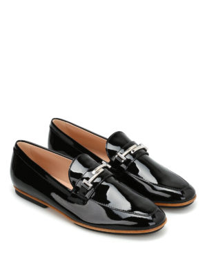 Tod'S: Loafers & Slippers online - Double T detail patent loafers