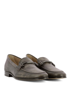 Tod'S: Loafers & Slippers online - Double T detailed leather loafers