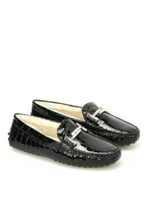 Tod'S: Loafers & Slippers online - Double T fur lined loafers