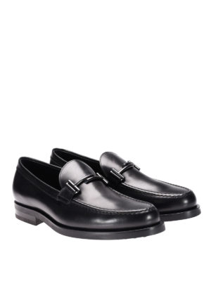 Tod'S: Loafers & Slippers online - Double T glossy leather loafers