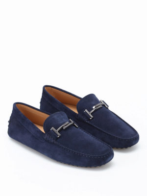 Tod'S: Loafers & Slippers online - Double T Gommini suede loafers