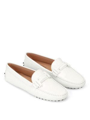 Tod'S: Loafers & Slippers online - Double T Gommino white loafers