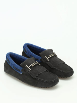 Tod'S: Loafers & Slippers online - Double T inner shearling loafers