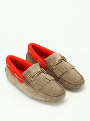 Tod'S: Loafers & Slippers online - Double T inner sherling loafers