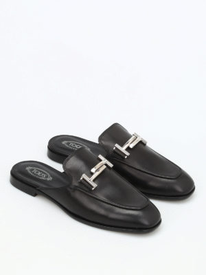 Tod'S: Loafers & Slippers online - Double T leather loafers