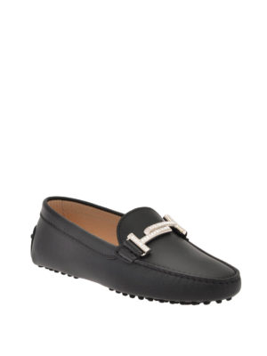Tod'S: Loafers & Slippers online - Double T matte leather loafers