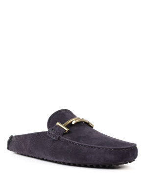 Tod'S: Loafers & Slippers online - Double T nubuck slippers
