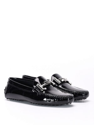 Tod'S: Loafers & Slippers online - Double T patent leather car shoes