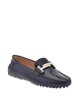 Tod'S: Loafers & Slippers online - Double T patent leather loafers