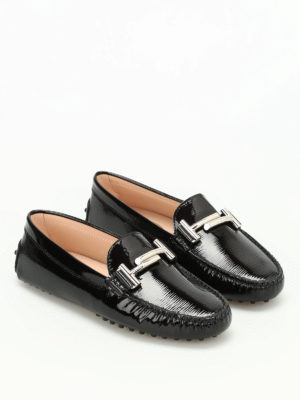 Tod'S: Loafers & Slippers online - Double T printed leather loafers