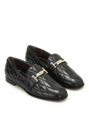 Tod'S: Loafers & Slippers online - Double T quilted leather loafers