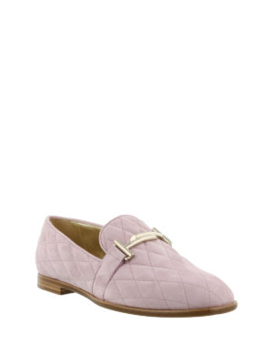Tod'S: Loafers & Slippers online - Double T quilted suede loafers